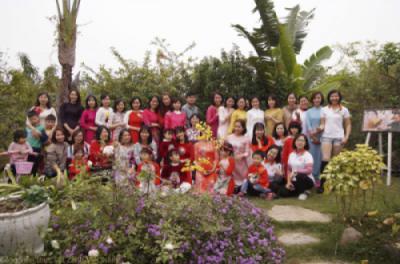 Ảnh kỷ niệm tập thể AFK Hà Nội tại CV thực vật cảnh Việt Nam