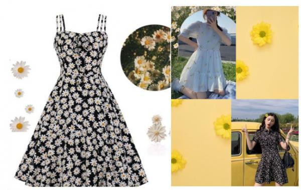 Hoa cúc trong thời trang truyền thống và hiện đại