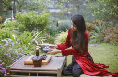 Thưởng trà giữa không gian trong lành, thư thái